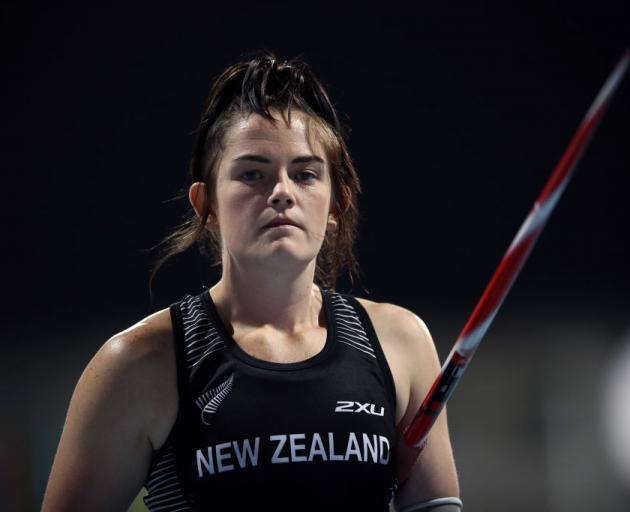 Holly Robinson, of Dunedin, looks on during the women's javelin throw F46 on at the IPC World Para Athletics Championships in Dubai yesterday. Photo: Getty Images