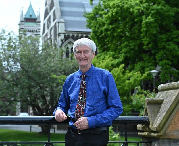 Retiring University of Otago chaplain Greg Hughson. Photo: Linda Robertson