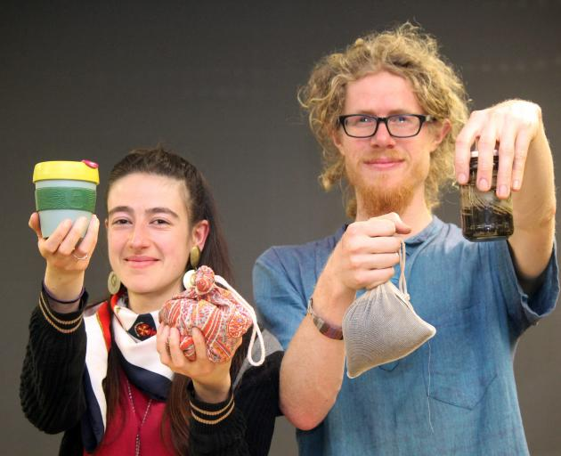 Hannah Blumhardt and Liam Prince, of The Rubbish Trip, with some of their favourite rubbish )from...
