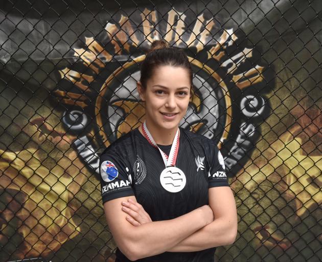 Otago martial artist Hannah Dawson won her second world championship gold in Bahrain last week. Photo: Gregor Richardson