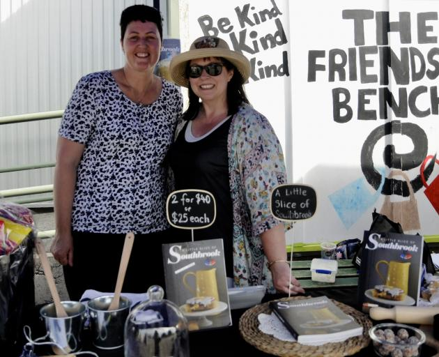 Southbrook School Board of Trustees chairwoman Liz McClure, right, with Jennifer Ferrier, during the Southbrook School Spring Market last Friday. Photos: Shelley Topp
