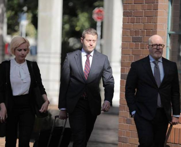 The accused's defence team of Claire Farquhar, Ian Brookie and Ron Mansfield. Photo: Michael Craig