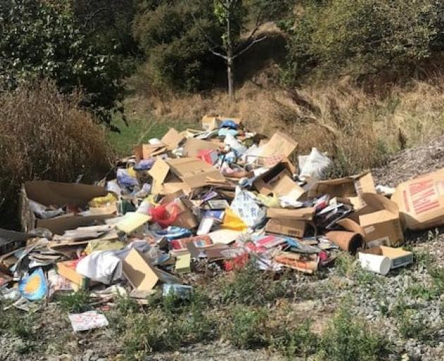 Rubbish dumped in the residential red zone. Photo: LINZ