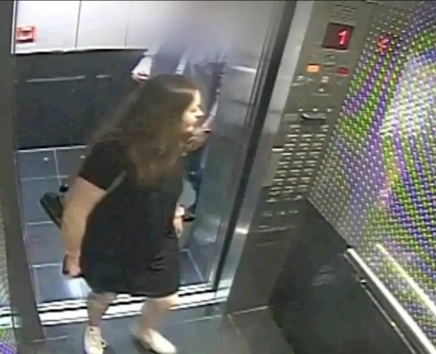 One of the last images of Grace Millane alive shows her stepping into the lift of the CityLife...