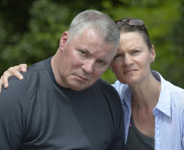 Former firefighter Grant Clarkson, who has motor neurone disease, with partner Jo Reid. PHOTO:...