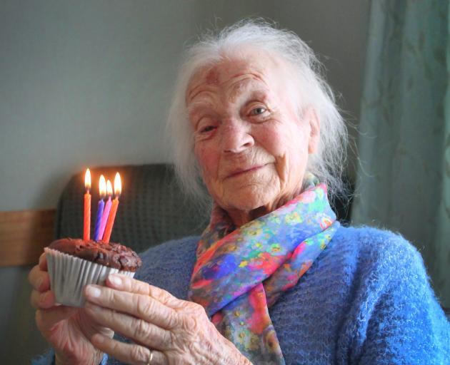 Erene McElhinney from Edendale is celebrating her 100th birthday today. PHOTO: LUISA GIRAO