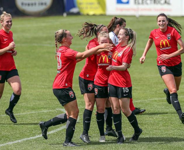 Canterbury United Pride booked themselves a spot in the National Women's League final with a 3-0 win over WaiBop.