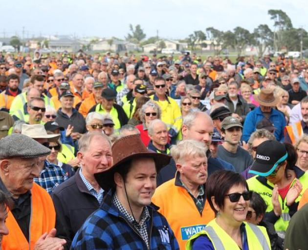 The rally opposes a raft of government policies and proposals that many say are threatening their way of life. Photo: RNZ