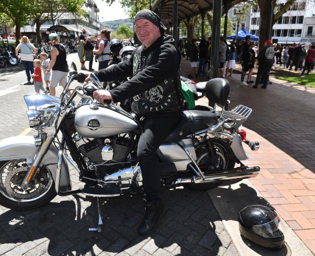 Getting on his motorcycle to raise awareness of  the issue of teen suicide is Garry McLennan, of...