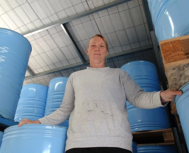 Cromwell beekeeper Sharleen Coker has 10 tonnes of spare thyme honey. Photos: Mark Price