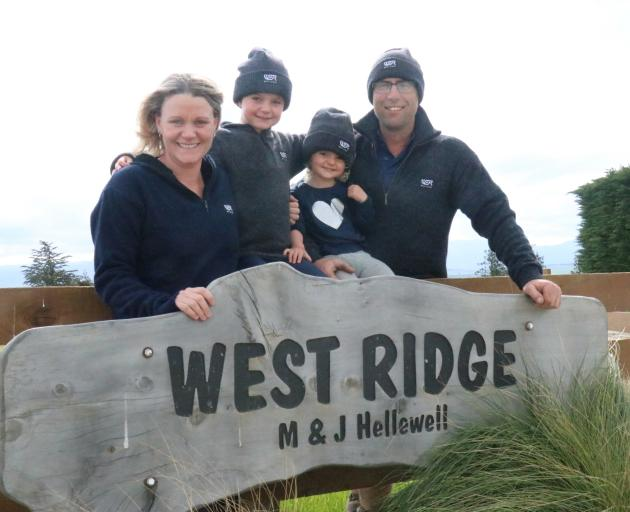 Murray and Julie Hellewell with son Riley (5) and daughter McKenna (2).