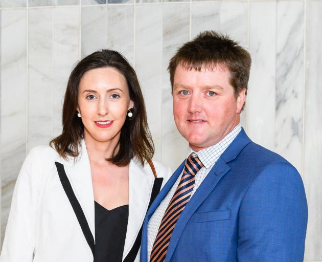 Manapouri sheep, beef and dairy farmer Edward Pinckney was one of five new Nuffield Scholarship recipients. He and wife Jaimee were at Parliament to hear the announcement on November 5. Photo: Mark Coote