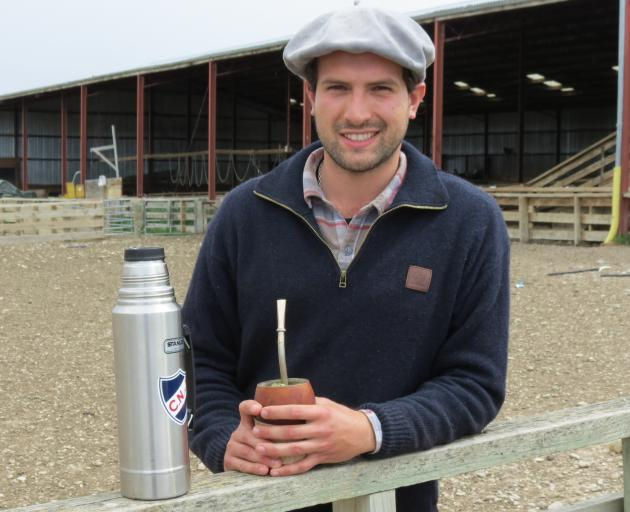 Young Uruguayan agriculture enthusiast Ricardo Barcia is spending time in Otago learning the wool industry. He is keen to introduce some of New Zealand's practices to woolsheds in his own country. Photos: Yvonne O'Hara
