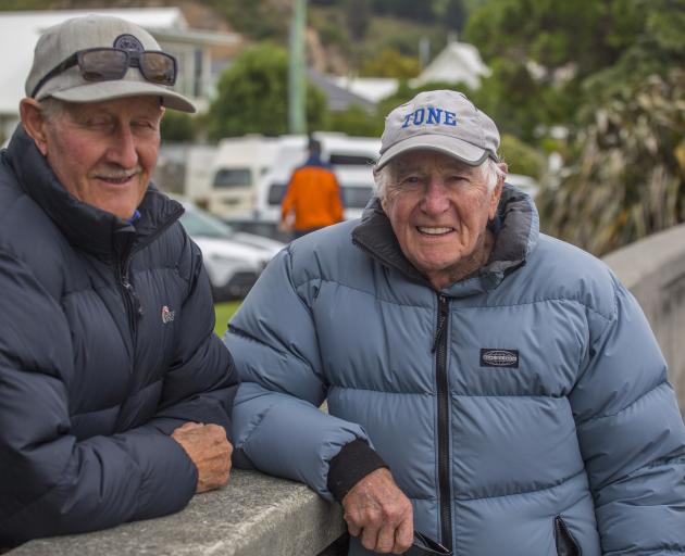Moncks Spur resident Denis Quane, 77, and Redcliffs resident Tony Johnson, 90, were both...