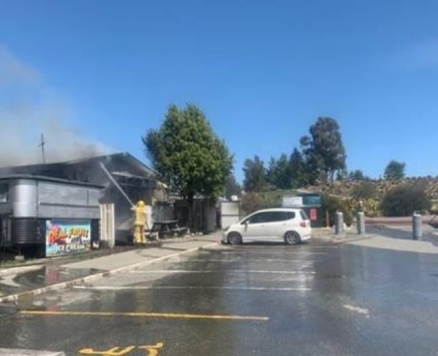 Fire crews are battling to contain the blaze. Photo: Matthew Andreassend/Supplied