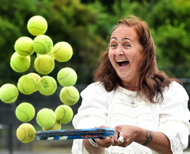 Former professional and Otago tennis player Claudine Toleafoa has joined the board of Tennis Otago. Photo: Peter McIntosh