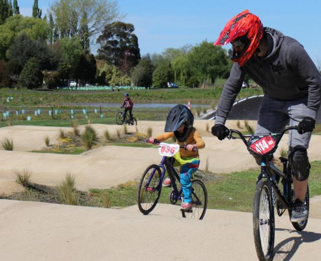 The recently opened BMX track in the Kaiapoi red zone.