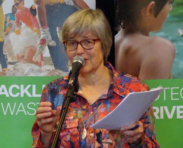 Eugenie Sage speaking in Wanaka yesterday. Photo: Kerrie Waterworth