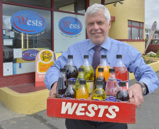Wests owner Alf Loretan with a selection of the company's thirst quenchers. Photo: Gerard O'Brien