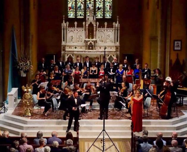 Hannah Irvine performs works by Rameau with Matthew Thomson and the Choir of Newman College. Photo: Supplied