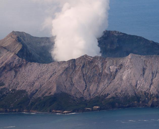 The  Whakaari/ White Island volcano remains volatile. Photo: Reuters