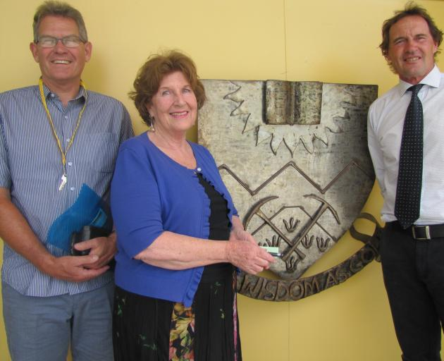 Retiring Dunstan High School assistant principal Mark Willyams (left), deputy principal Bev Anderson and assistant principal Alan Hamilton reflect on their decades at the school. The three are all retiring this year after a combined 83 years at Dunstan. P