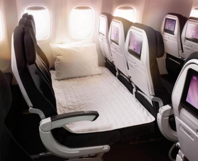 Air New Zealand's Economy Skycouch. Photo: Air NZ