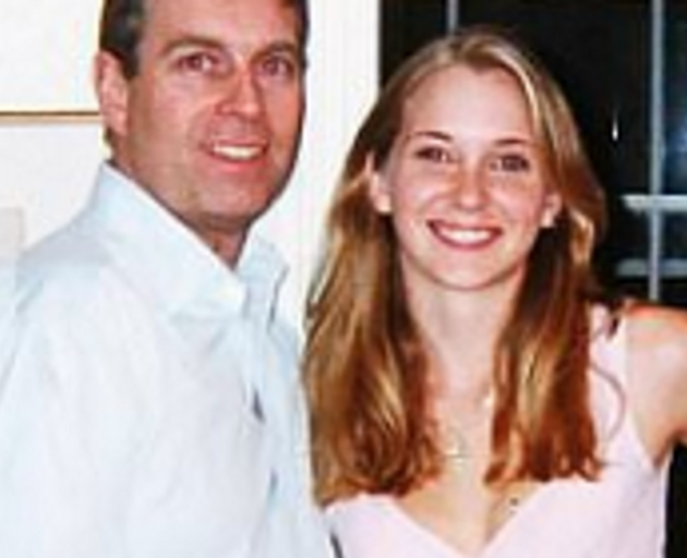 Prince Andrew with Virginia Roberts. Photo: supplied