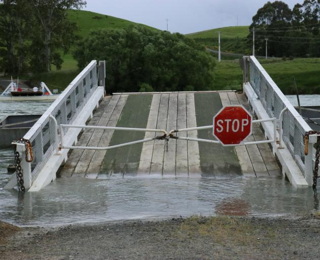 The Tuapeka Mouth punt on-ramp has been closed after being partially submerged under the rising...
