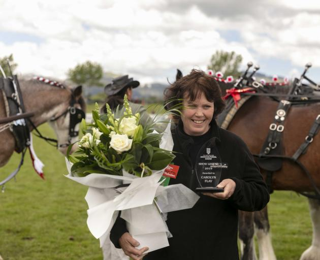 Carolyn Flay was named Show Legend at last month's New Zealand Agricultural Show. Photo: Canterbury A&P Show