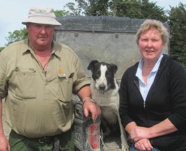 Dog trials have taken Mark and Robyn Copland (pictured with dog Deb) to many rural locations. Photo: Toni Williams