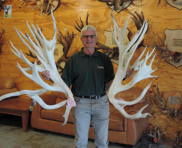 These antlers came from a stag named after one of the Hakataramea Valley's best-known sons. Photo: Sally Brooker