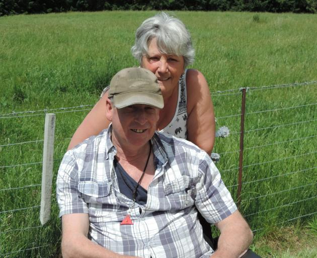 Murray and Gaynor Smith have no cattle to eat the feed that has sprung up on their Livingstone farm. Photo: Sally Brooker