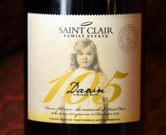 The latest vintage of St Clair ''Dawn'', with its suitably amended label.