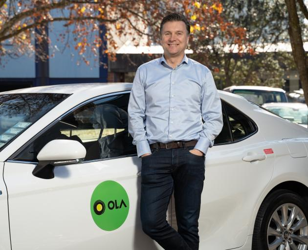 Ola New Zealand country manager Brian Dewil is expecting the rideshare app to be popular in Dunedin. Photo: Supplied