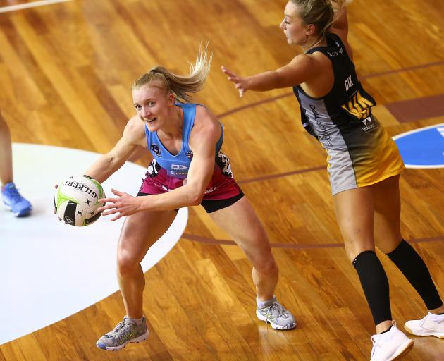 Shannon Saunders of Southern Steel tries to break the defence during the 2019 Super Club...