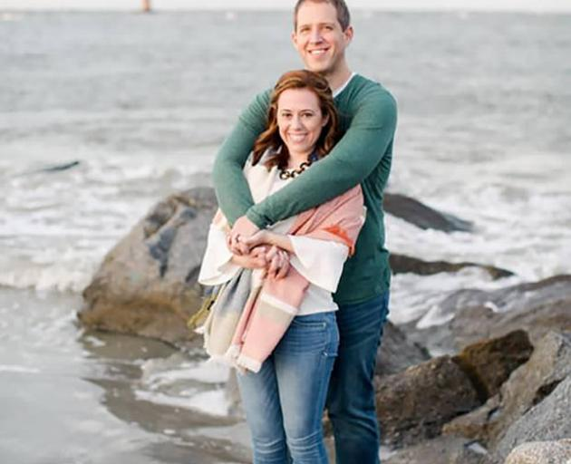 Lauren Urey and husband Matthew Urey, a couple from Richmond, Virginia, were visiting White Island when the volcano erupted. Photo: Supplied