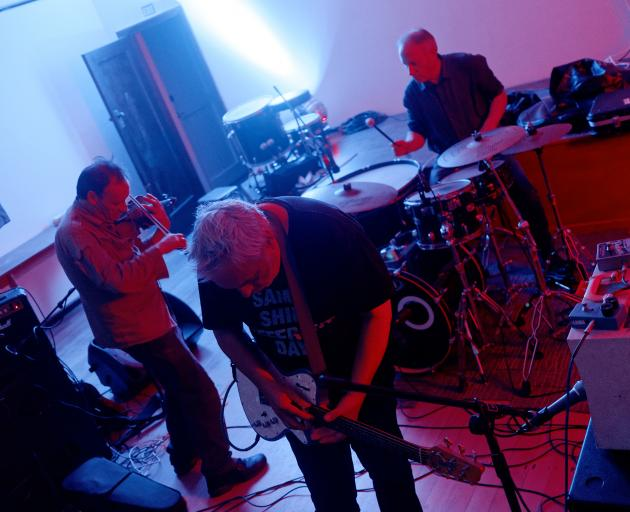 A Handful of Dust play at Lines of Flight in Port Chalmers' Pioneer Hall.