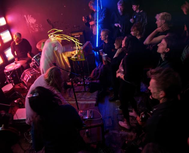 The Futurians play the final gig at None gallery earlier this year. Photos: Fraser Thompson