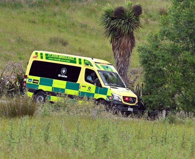 An elderly man was taken to Dunedin Hospital by St John ambulance in a critical condition. Photo:...