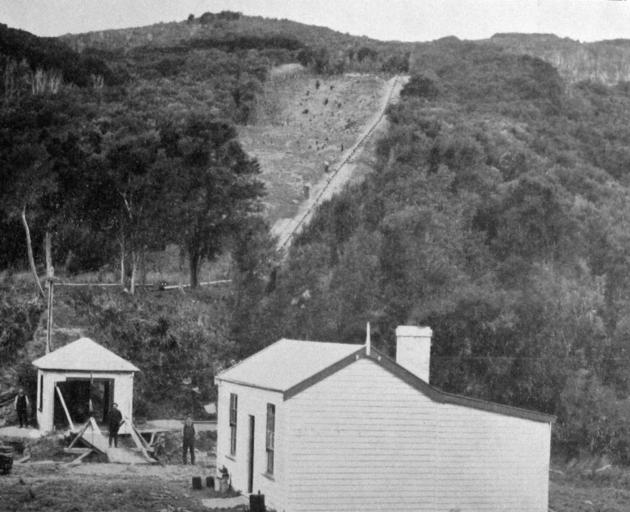 The pumping station and residence at Powder Creek, Whare Flat. — Otago Witness, 16.12.1919.