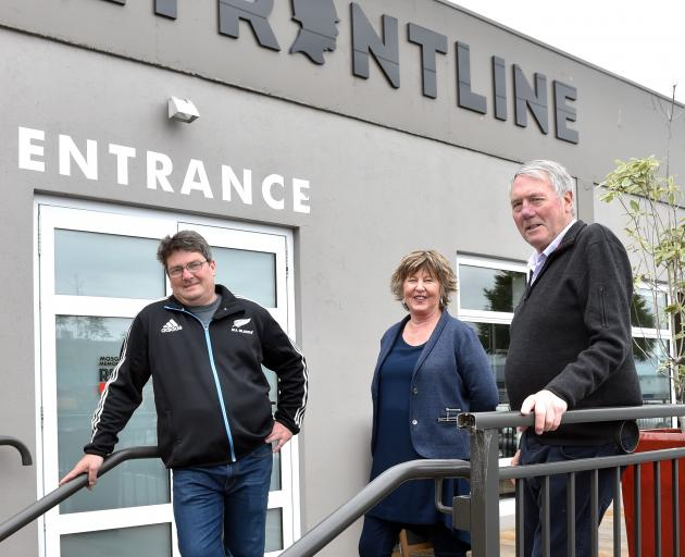Mosgiel Memorial RSA president Debbie Kennedy with catering manager Mark Cameron (left) and hospitality manager Frank Murphy at the Church St premises. Photo: Peter McIntosh