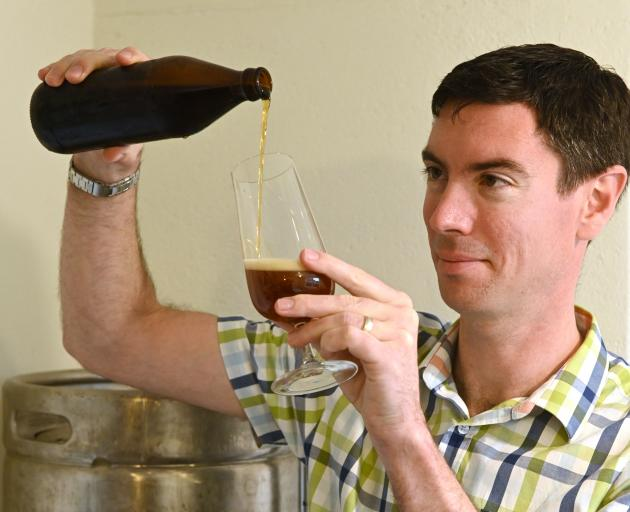 Dunedin man Simon Woods has found success at a national home brew competition. PHOTO: LINDA...