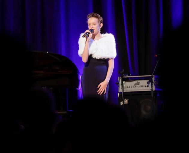 Monet Schutte, 13, performed her song 'Like You Did Before' at the Vienna Concert Hall, Austria.