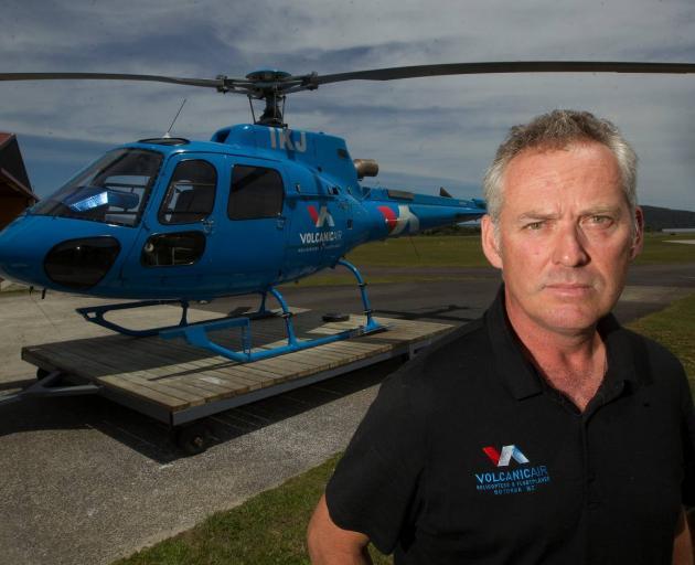 Chief pilot for Volcanic Air Safaris Tim Barrow. Photo: NZ Herald