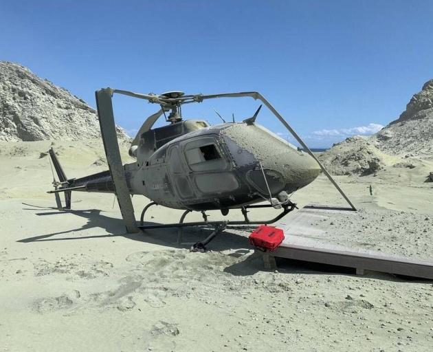 A Volcanic Air Safari helicopter. Photo: Supplied