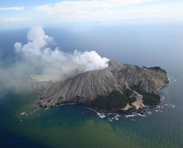 White Island erupted at 2.11pm yesterday. Photo:  New Zealand Herald