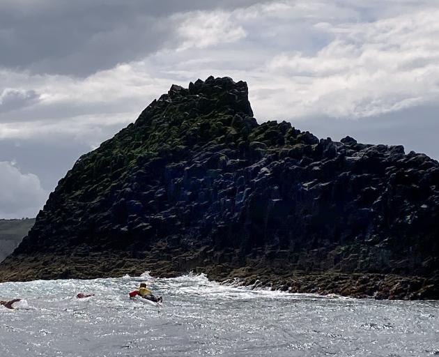 Mr Caughlin makes his way around the island. PHOTO: GERARD O'BRIEN
