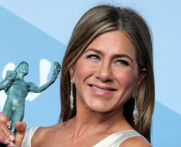 Jennifer Aniston won for her role in TV's The Morning Show. Photo: Reuters