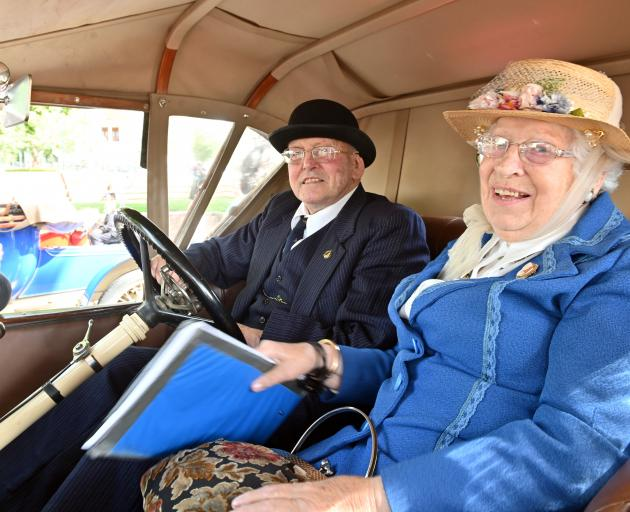 Colin (86) and Joan (83) Pearce, of Mosgiel, in their 1914 Sunbeam.